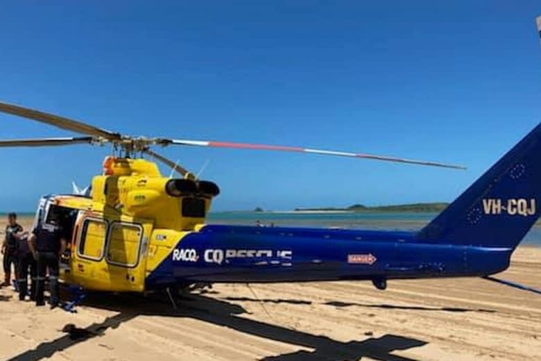 RACQ CQ Rescue helicopter has been tasked to a serious motorcycle crash south of Mackay. Photo: RACQ CQ Rescue